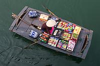Snack Vendors on Halong Bay  - Wherever you find Vietnamese or tourists, you will find vendors on the street or even on the ocean selling fresh fruit, snacks, and even fresh brewed coffee!!!