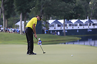 Bubba Watson (USA) putts on the 14th green during Thursday's Round 1 of the 2017 PGA Championship held at Quail Hollow Golf Club, Charlotte, North Carolina, USA. 10th August 2017.<br /> Picture: Eoin Clarke | Golffile<br /> <br /> <br /> All photos usage must carry mandatory copyright credit (&copy; Golffile | Eoin Clarke)