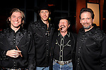 "From left: Adam Van Wagoner, Justin Doran, Kinky Friedman and Tom Prior at a reception held after a reading of ""Becoming Kinky: The World According to Kinky Friedman"" at the Stages Repertory Theater Friday Aug. 13,2010.(Dave Rossman/For the Chronicle)"