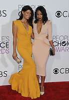 www.acepixs.com<br /> <br /> January 18 2017, LA<br /> <br /> Andrea Navedo (L) and Azie Tesfai arriving at the People's Choice Awards 2017 at the Microsoft Theater on January 18, 2017 in Los Angeles, California.<br /> <br /> By Line: Peter West/ACE Pictures<br /> <br /> <br /> ACE Pictures Inc<br /> Tel: 6467670430<br /> Email: info@acepixs.com<br /> www.acepixs.com