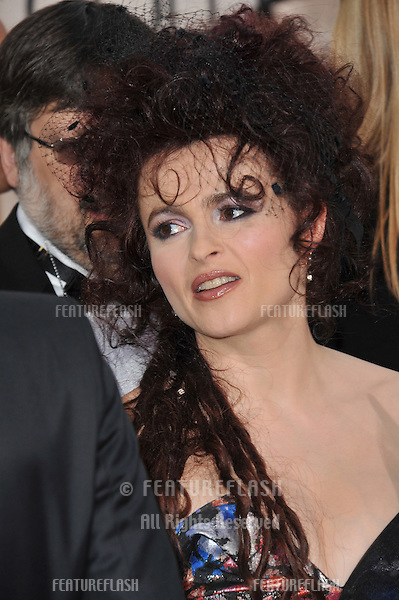 Helena Bonham Carter at the 68th Annual Golden Globe Awards at the Beverly Hilton Hotel..January 16, 2011  Beverly Hills, CA.Picture: Paul Smith / Featureflash