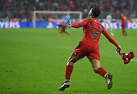 FUSSBALL CHAMPIONS LEAGUE  SAISON 2015/2016 ACHTELFINALE RUECKSPIEL FC Bayern Muenchen  - Juventus Turin      16.03.2016  Thiago Alcantara (FC Bayern Muenchen) nach seinem Treffer zum 3:2