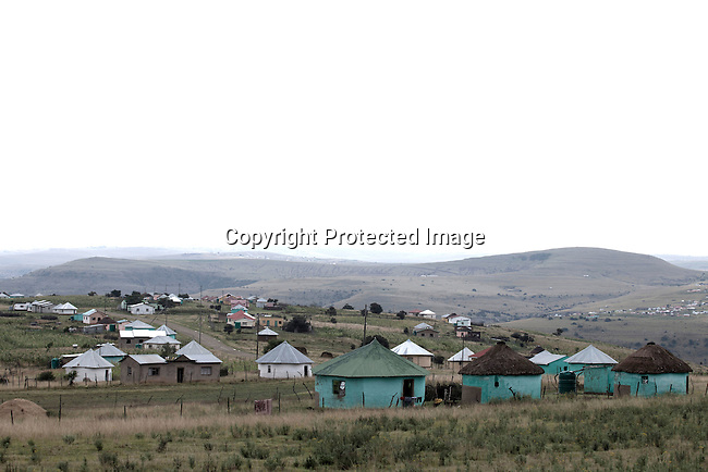MVEZO, SOUTH AFRICA - MARCH 28: An overview of the village on March 28, 2012 in Mvezo South Africa. Nelson Mandela was born in this rural village in 1918 and moved to nearby Qunu as a young boy. Qunu is about 32 kilometers away. The village is now headed by his grandson Mandla Mandela. (Photo by Per-Anders Pettersson)