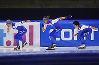 SCHAATSEN: HEERENVEEN: 03-10-2014, IJsstadion Thialf, Team Continu, Nao Kodaira, ©foto Martin de Jong
