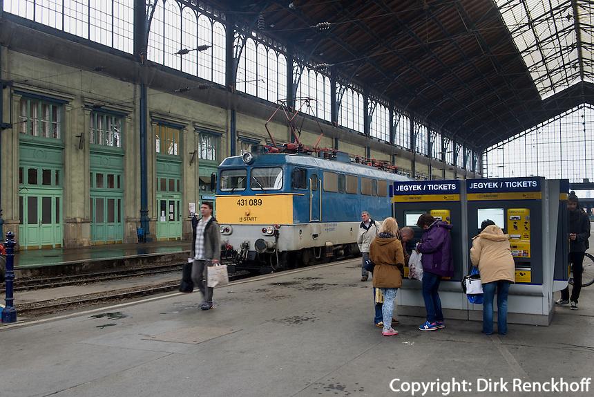 Westbahnhof in Budapest, Ungarn
