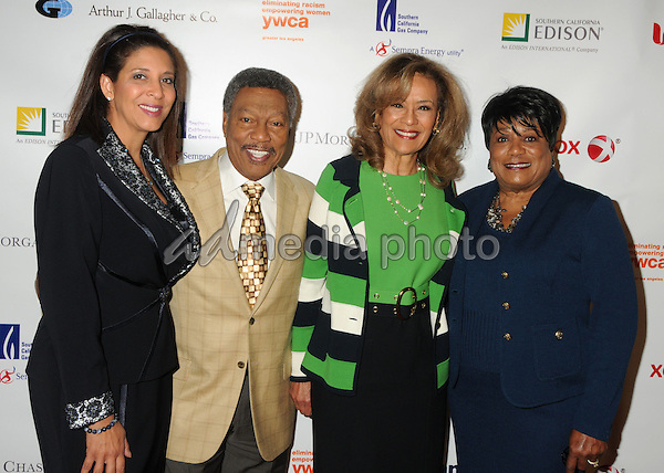 13 May 2015 - Los Angeles, California - Christine Devine, Billy Davis Jr., Marilyn McCoo, Faye Washington. YWCA Phenomenal Woman of The Year Award Ceremony held at The Omni Hotel. Photo Credit: Byron Purvis/AdMedia