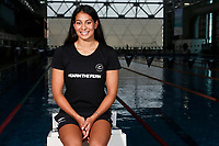 Bronagh Ryan, New Zealand swimming team announcement for the 2018 Commonwealth Games. Sir Owen G. Glenn National Aquatic Centre, Auckland. 22 December 2017. Copyright Image: William Booth / www.photosport.nz