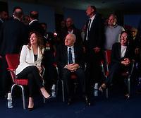 Presentazione di Valeria Valente candidato Sindaco alla Citta di Napoli<br /> la candidata con il ministro Maria Elena Boschi e il governatore della campania Vincenzo De Luca