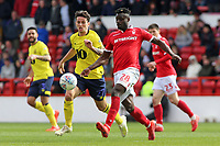 Nottingham Forest's Pele gets away from Blackburn Rovers' Lewis Travis<br /> <br /> Photographer David Shipman/CameraSport<br /> <br /> The EFL Sky Bet Championship - Nottingham Forest v Blackburn Rovers - Saturday 13th April 2019 - The City Ground - Nottingham<br /> <br /> World Copyright © 2019 CameraSport. All rights reserved. 43 Linden Ave. Countesthorpe. Leicester. England. LE8 5PG - Tel: +44 (0) 116 277 4147 - admin@camerasport.com - www.camerasport.com