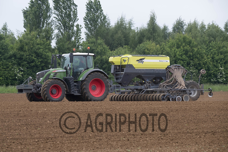 Contractors drilling grass seed<br /> &copy;Tim Scrivener Photographer 07850 303986<br /> ....Covering Agriculture In The UK....