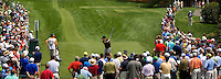 PGA golfer Phil Mickelson hits a tee shot during the 2008 Wachovia Championships at Quail Hollow Country Club in Charlotte, NC.