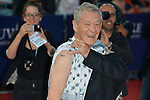 Ian McKellen arrives at the 'Mr Holmes' Premiere red carpet during the 41st Deauville American Film Festival on September 10, 2015 in Deauville, France