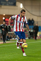 Atletico de Madrid´s Mario Mandzukic during 2014-15 La Liga match between Atletico de Madrid and Villarreal at Vicente Calderon stadium in Madrid, Spain. December 14, 2014. (ALTERPHOTOS/Luis Fernandez) /NortePhoto