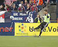 Colorado Rapids goalkeeper Matt Pickens (18). In a Major League Soccer (MLS) match, the New England Revolution tied the Colorado Rapids, 0-0, at Gillette Stadium on May 7, 2011.