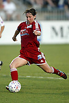 19 June 2003: Maren Meinert of Germany and the Boston Breakers tied the game at 1-1 with her goal on this shot in the 34th minute. The WUSA World Stars defeated the WUSA American Stars 3-2 in the WUSA All-Star Game held at SAS Stadium in Cary, NC.