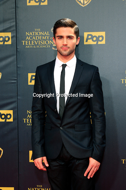 BURBANK - APR 26: Max Ehrich at the 42nd Daytime Emmy Awards Gala at Warner Bros. Studio on April 26, 2015 in Burbank, California