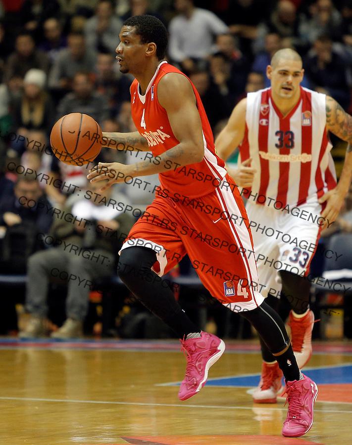 James White Crvena Zvezda - Cedevita kosarka ABA regionalna liga 4.1.1016. Januar 4. 2016. (credit image & photo: Pedja Milosavljevic / STARSPORT)