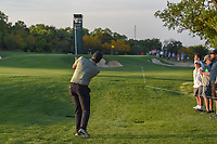 Jhonattan Vegas (VEN) hits his approach shot from the rough on 10 during day 2 of the Valero Texas Open, at the TPC San Antonio Oaks Course, San Antonio, Texas, USA. 4/5/2019.<br /> Picture: Golffile | Ken Murray<br /> <br /> <br /> All photo usage must carry mandatory copyright credit (&copy; Golffile | Ken Murray)