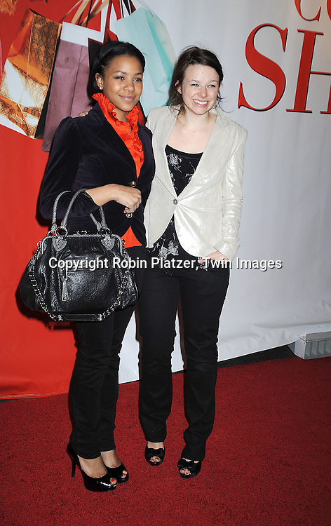 "Joy Lawrence and friend on left..posing for photographers at The World Premiere of ..""Confessions of a Shopaholic"" on February 5, 2009 at ..the Ziegfeld Theatre in New York City. The stars of the movie are Isla Fisher, Hugh Dancy, Joan Cusack, Leslie Bibb, Krysten Ritter, John Goodman and Wendy Malick. ....Robin Platzer, Twin Images.."