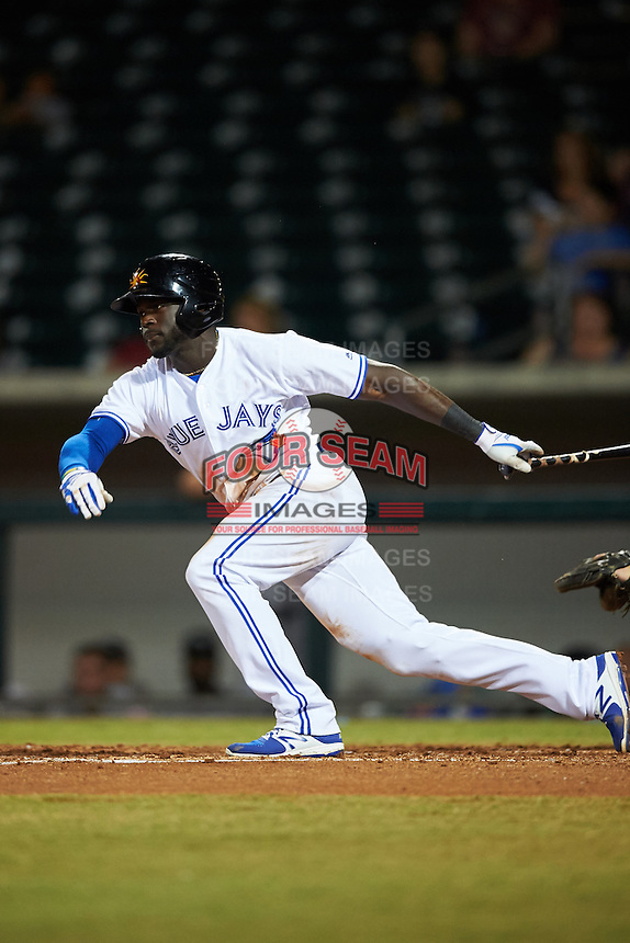 Mesa Solar Sox Anthony Alford (22), of the Toronto Blue Jays organization, during a game against the Peoria Javelinas on October 15, 2016 at Sloan Park in Mesa, Arizona.  Peoria defeated Mesa 12-2.  (Mike Janes/Four Seam Images)