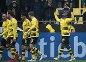 18th March 2018, Dortmund, Germany;  Football Bundesliga, Borussia Dortmund versus Hannover 96 at the Signal Iduna Park. Dortmund's Michy Batshuayi (r) celebrates after his goal for 1-0.