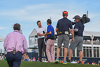 Ian Poulter (GBR) is swarmed by media after winning the  Houston Open, Golf Club of Houston, Houston, Texas. 4/1/2018.<br /> Picture: Golffile | Ken Murray<br /> <br /> <br /> All photo usage must carry mandatory copyright credit (&copy; Golffile | Ken Murray)