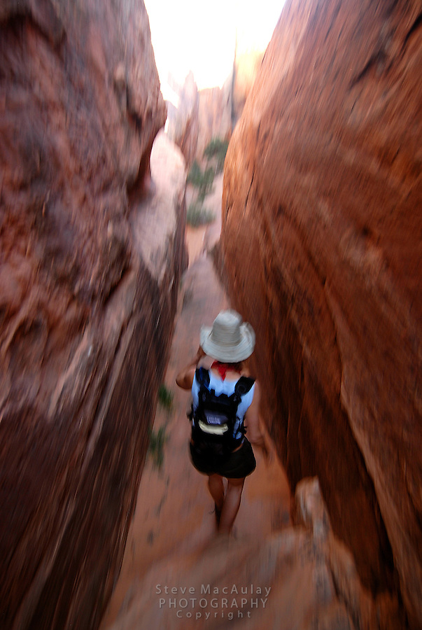 Hiking the Devil's Garden Trail, Arches National Park,  South East Utah, May 2008