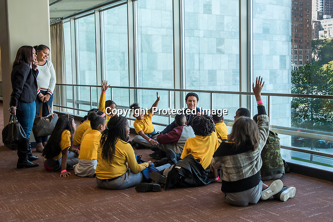 Young Students learning about United Nations, 3rd floor Conference rooms lobby