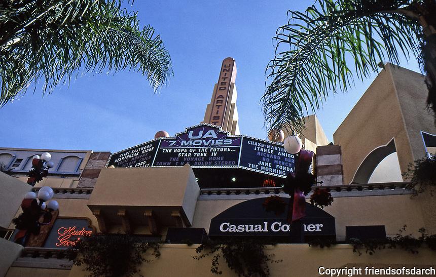 Horton Plaza:  United Artist Theater (7 movies). Top floor.  Photo Jan. 1987