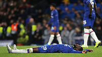 Fikayo Tomori of Chelsea shows his frustration at the final whistle during Chelsea vs AFC Ajax, UEFA Champions League Football at Stamford Bridge on 5th November 2019