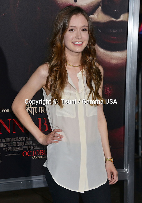 Hayley McFarland  426 at the Annabelle Premiere at the TCL Chinese Theatre in Los Angeles.