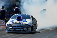 Sept. 23, 2012; Ennis, TX, USA: NHRA pro stock driver Allen Johnson during the Fall Nationals at the Texas Motorplex. Mandatory Credit: Mark J. Rebilas-