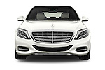 Car photography straight front view of a2016 Mercedes Benz S Class May Bach 4 Door Sedan Front View
