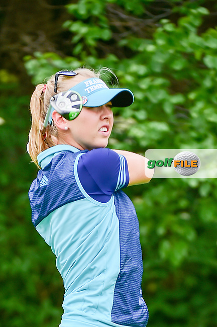 Jessica Korda (USA) watches her tee shot on 11 during Thursday's round 1 of the 2017 KPMG Women's PGA Championship, at Olympia Fields Country Club, Olympia Fields, Illinois. 6/29/2017.<br /> Picture: Golffile | Ken Murray<br /> <br /> <br /> All photo usage must carry mandatory copyright credit (&copy; Golffile | Ken Murray)