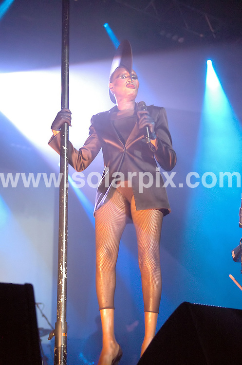 **ALL ROUND PICTURES FROM SOLARPIX.COM**.**WORLDWIDE SYNDICATION RIGHTS**.Grace Jones in concert on her current UK tour, at Manchester Apollo, Manchester, UK. Saturday 24th January 2009..This pic: Grace Jones..JOB REF: 8315 SGD     DATE: 24_01_2009.**MUST CREDIT SOLARPIX.COM OR DOUBLE FEE WILL BE CHARGED* *UNDER NO CIRCUMSTANCES IS THIS IMAGE TO BE REPRODUCED FOR ANY ONLINE EDITION WITHOUT PRIOR PERMISSION*