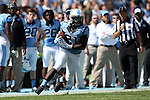 04 October 2014: UNC's Romar Morris. The University of North Carolina Tar Heels hosted the Virginia Tech Hokies at Kenan Memorial Stadium in Chapel Hill, North Carolina in a 2014 NCAA Division I College Football game. Virginia Tech won the game 34-17.