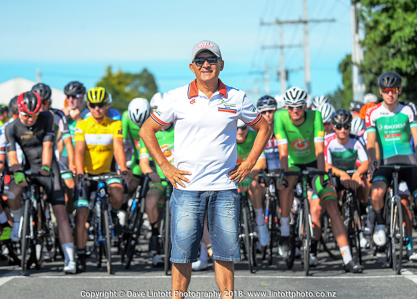 Race organiser Jorge Sandoval. Stage five of the 2018 NZ Cycle Classic UCI Oceania Tour (Masterton criterium) in Masterton, New Zealand on Friday, 21 January 2018. Photo: Dave Lintott / lintottphoto.co.nz