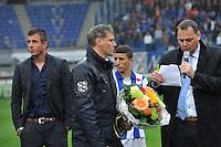 VOETBAL: HEERENVEEN: ABE LENSTRA STADION: 19-10-2013, SC Heerenveen - FC Utrecht, uitslag 4-1, afscheid trainer/coach Marco van Basten, ©foto Martin de Jong