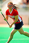 25 April 2009: Stony Brook University Seawolves' attackman Samantha Djaha, a Sophomore from East Islip, NY, in action against the University of Vermont Catamounts at Moulton Winder Field in Burlington, Vermont. The Lady Cats defeated the visiting Seawolves 19-11 in Vermont's last home game of the 2009 season. Mandatory Photo Credit: Ed Wolfstein Photo