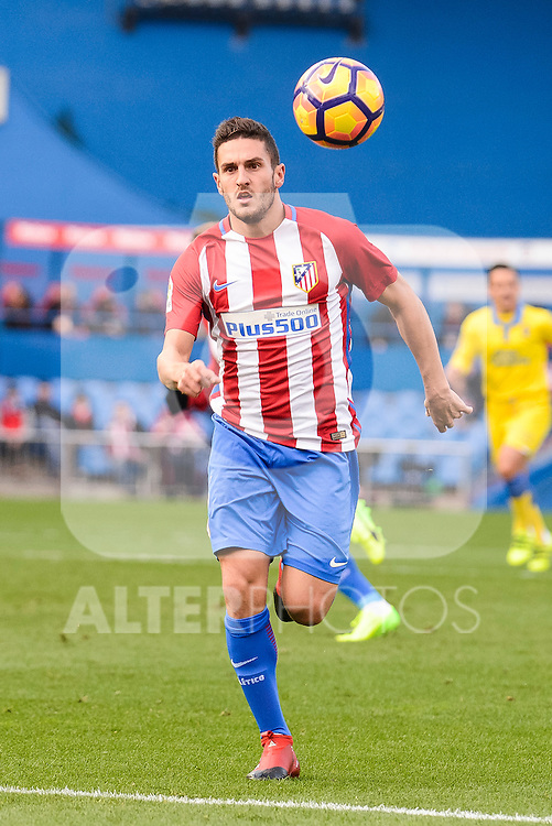 Atletico de Madrid Koke Resurreccion during La Liga match between Atletico de Madrid and UD Las Palmas at Vicente Calderon Stadium in Madrid, Spain. December 17, 2016. (ALTERPHOTOS/BorjaB.Hojas)