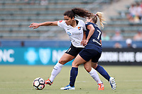 Cary, North Carolina  - Saturday July 01, 2017: Raquel Rodriguez and McCall Zerboni during a regular season National Women's Soccer League (NWSL) match between the North Carolina Courage and the Sky Blue FC at Sahlen's Stadium at WakeMed Soccer Park. Sky Blue FC won the game 1-0.