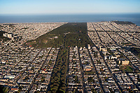 aerial photograph Golden Gate Park Panhandle San Francisco
