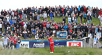 Victor Dubuisson (FRA) drives down the 17th during Round Two of the 100th Open de France, played at Le Golf National, Guyancourt, Paris, France. 01/07/2016. Picture: David Lloyd | Golffile.<br /> <br /> All photos usage must carry mandatory copyright credit (&copy; Golffile | David Lloyd)