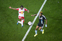 HARRISON, NJ - Friday, September 11, 2015: The New York Red Bulls defeat the Chicago Fire at home 3-2 at Red Bull Arena in regular season MLS play.