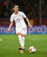 20181005 - LEUVEN , BELGIUM : Switzerland's Florijana Ismaili   pictured during the female soccer game between the Belgian Red Flames and Switzerland , the first leg in the semi finals play offs for qualification for the World Championship in France 2019, Friday 5 th october 2018 at OHL Stadion Den Dreef in Leuven , Belgium. PHOTO SPORTPIX.BE   DIRK VUYLSTEKE