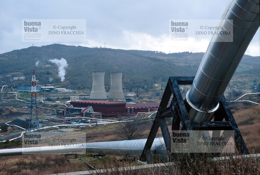 - plants for geothermal energy exploitation  in Larderello (Tuscany) ....- impianti per lo sfruttamento dell'energia geotermica a Larderello (Toscana)