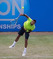 JO-WILFRIED TSONGA (FRA)<br /> <br /> Aegon Championships 2014 - Queens Club -  London - UK -  ATP - ITF - 2014  - Great Britain -  11th June 2014. <br /> <br /> &copy; AMN IMAGES