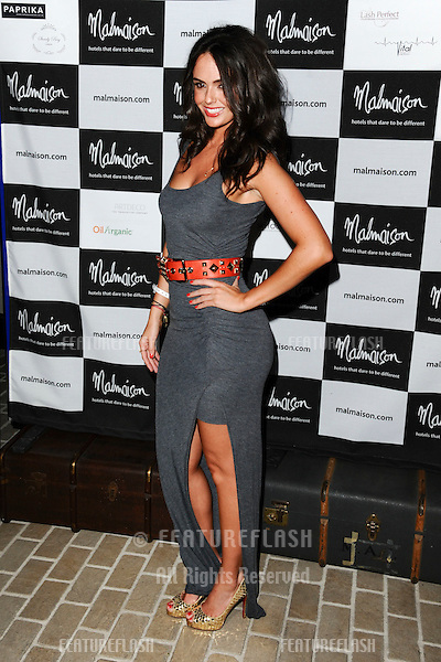 Jennifer Metcalfe arrives for the Malmaison Hotel Liverpool re-opening party...23/09/2011  Picture by Steve Vas/Featureflash