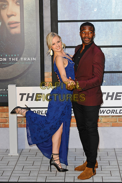 LONDON, ENGLAND - SEPTEMBER 20: Joanne Clifton and Ore Oduba attending 'The Girl On The Train' World Premiere at Odeon Cinema, Leicester Square on September 20, 2016 in London, England.<br /> CAP/MAR<br /> &copy;MAR/Capital Pictures