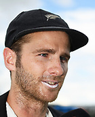 9th December 2017, Seddon Park, Hamilton, New Zealand; International Test Cricket, 2nd Test, Day 1, New Zealand versus West Indies;  NZ Captain Kane Williamson